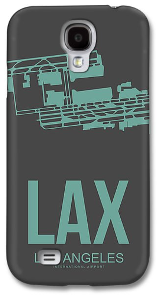 Lax Airport Poster 2 Galaxy S4 Case by Naxart Studio