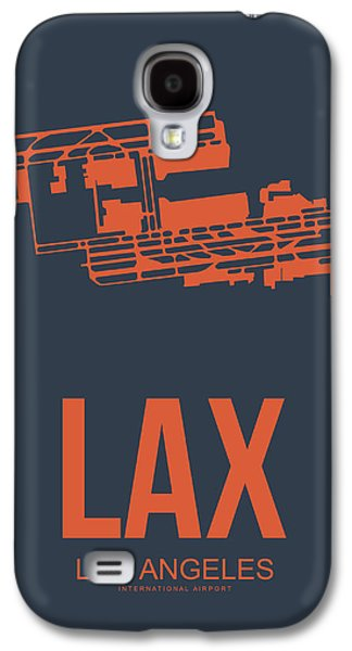 Lax Airport Poster 3 Galaxy S4 Case by Naxart Studio