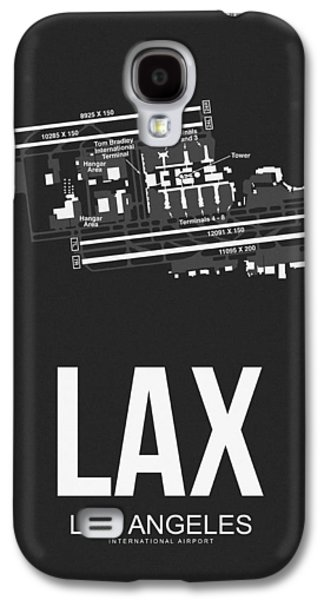 Lax Los Angeles Airport Poster 3 Galaxy S4 Case by Naxart Studio