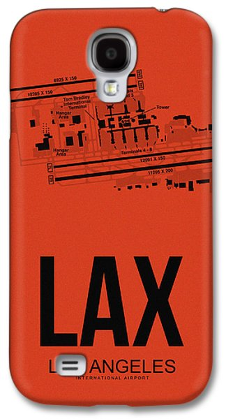 Travel Galaxy S4 Case - Lax Los Angeles Airport Poster 4 by Naxart Studio