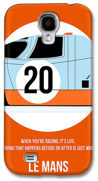 Le Mans Poster 2 Galaxy S4 Case by Naxart Studio