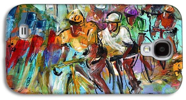 Le Tour De France Madness 02 Galaxy S4 Case by Miki De Goodaboom