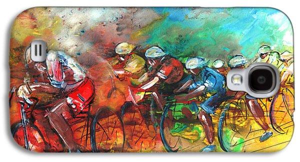 Le Tour De France Madness 05 Galaxy S4 Case by Miki De Goodaboom