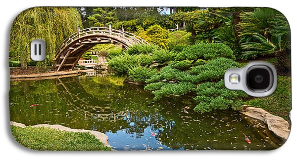 Lead The Way - The Beautiful Japanese Gardens At The Huntington Library With Koi Swimming. Galaxy S4 Case by Jamie Pham