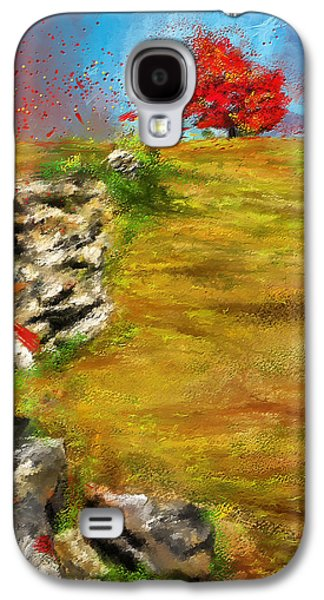 Leading Red - Autumn Impressionist Galaxy S4 Case by Lourry Legarde