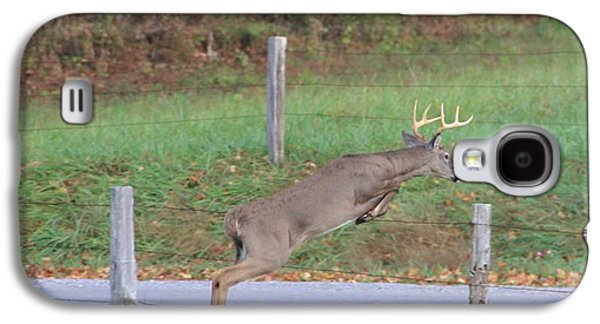 Leaping Buck In Smoky Mountains Galaxy S4 Case by Dan Sproul