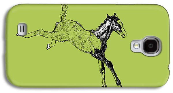 Horse Galaxy S4 Case - Leaping Foal Greens by JAMART Photography