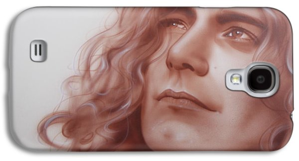 Robert Plant - ' Leaves Are Falling All Around ' Galaxy S4 Case by Christian Chapman Art