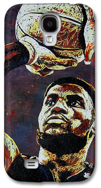 Lebron James Mvp Galaxy S4 Case by Maria Arango