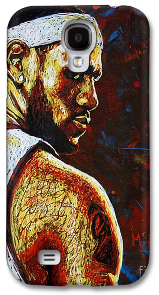 Lebron  Galaxy S4 Case by Maria Arango