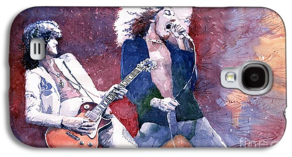 Led Zeppelin Jimmi Page And Robert Plant  Galaxy S4 Case by Yuriy  Shevchuk