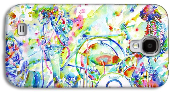 Led Zeppelin Live Concert - Watercolor Painting Galaxy S4 Case by Fabrizio Cassetta