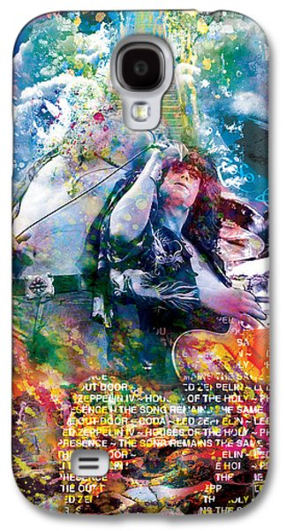 Led Zeppelin Original Painting Print  Galaxy S4 Case by Ryan Rock Artist