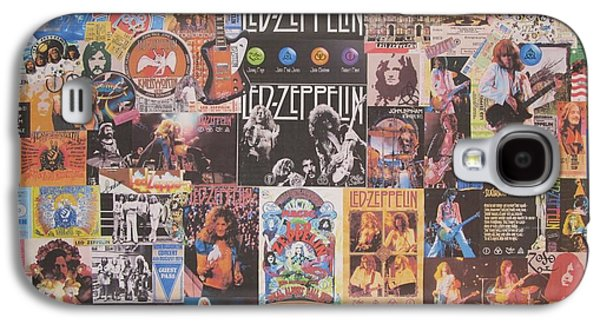 Led Zeppelin Years Collage Galaxy S4 Case by Donna Wilson