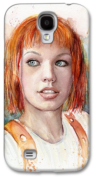 Leeloo Portrait Multipass The Fifth Element Galaxy S4 Case by Olga Shvartsur