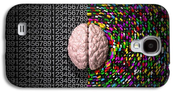 Left Brain Right Brain Galaxy S4 Case by Allan Swart