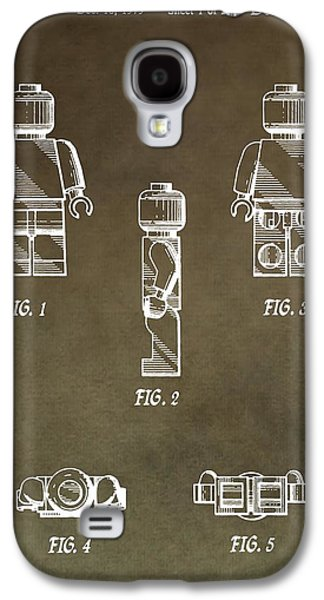 Lego Man Patent Galaxy S4 Case by Dan Sproul