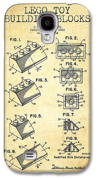 Lego Toy Building Blocks Patent - Vintage Galaxy S4 Case