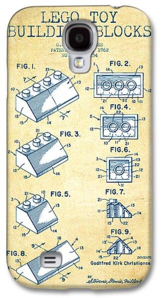 Lego Toy Building Blocks Patent - Vintage Paper Galaxy S4 Case
