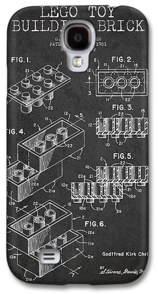 Lego Toy Building Brick Patent - Dark Galaxy S4 Case