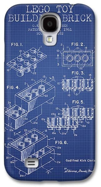 Lego Toy Building Brick Patent From 1961 - Blueprint Galaxy S4 Case by Aged Pixel