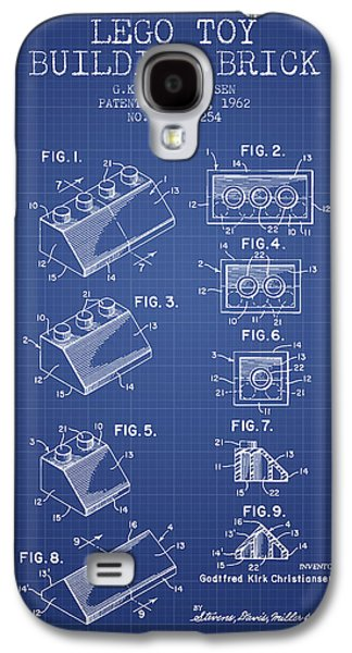 Lego Toy Building Brick Patent From 1962 - Blueprint Galaxy S4 Case