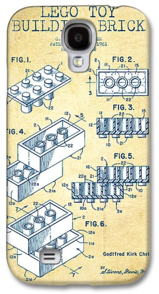 Lego Toy Building Brick Patent - Vintage Paper Galaxy S4 Case