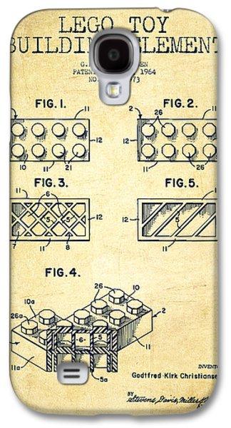 Lego Toy Building Element Patent - Vintage Galaxy S4 Case