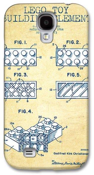 Lego Toy Building Element Patent - Vintage Paper Galaxy S4 Case