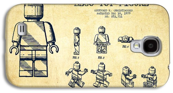 Lego Toy Figure Patent Drawing From 1979 - Vintage Galaxy S4 Case