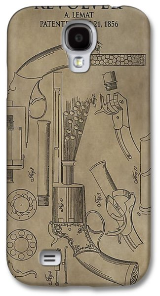 Lemat Revolver Patent Galaxy S4 Case by Dan Sproul