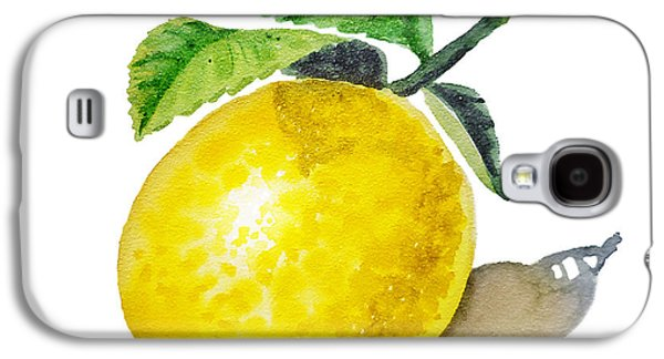 Lemon Galaxy S4 Case by Irina Sztukowski