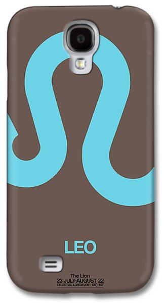 Leo Zodiac Sign Blue Galaxy S4 Case by Naxart Studio