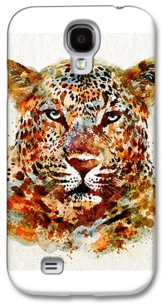 Leopard Head Watercolor Galaxy S4 Case by Marian Voicu
