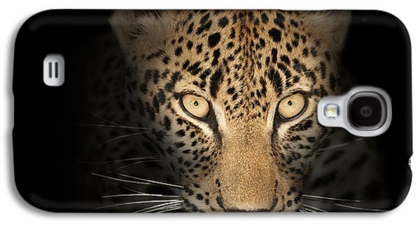 Leopard In The Dark Galaxy S4 Case by Johan Swanepoel