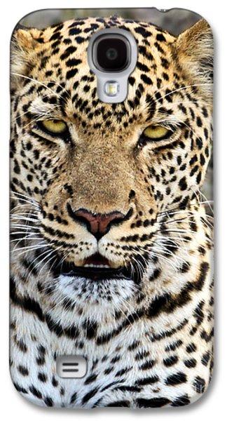 Wild Leopard In Botswana Galaxy S4 Case by Liz Leyden