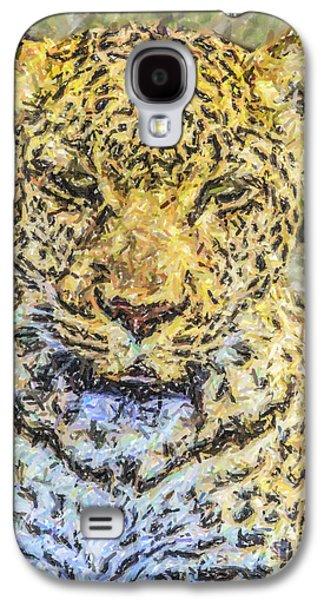 Leopard Panthera Pardus Portrait Galaxy S4 Case by Liz Leyden