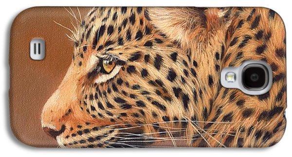 Leopard Portrait Galaxy S4 Case by David Stribbling