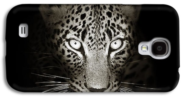 Cat Galaxy S4 Case - Leopard Portrait In The Dark by Johan Swanepoel