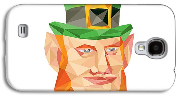 Leprechaun Head Low Polygon Galaxy S4 Case by Aloysius Patrimonio