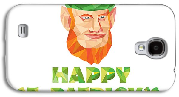 Leprechaun St Patrick's Day Low Polygon Galaxy S4 Case by Aloysius Patrimonio