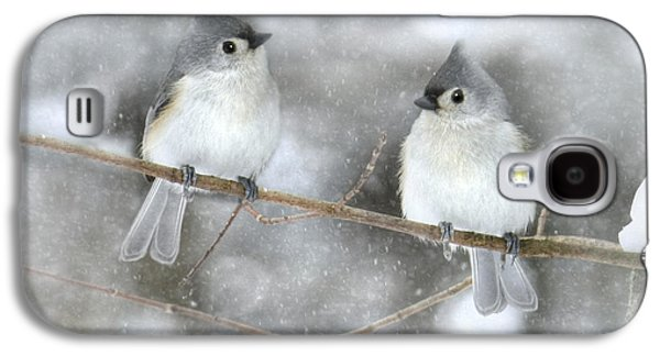 Titmouse Galaxy S4 Case - Let It Snow by Lori Deiter