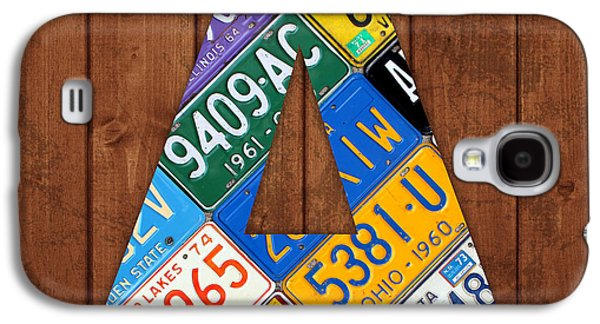 Letter A Alphabet Vintage License Plate Art Galaxy S4 Case by Design Turnpike