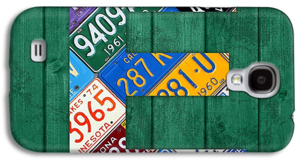 Letter E Alphabet Vintage License Plate Art Galaxy S4 Case by Design Turnpike