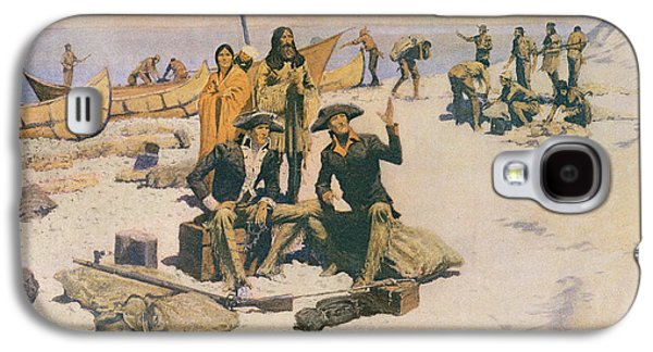 Lewis And Clark At The Mouth Of The Columbia River Galaxy S4 Case by Frederic Remington
