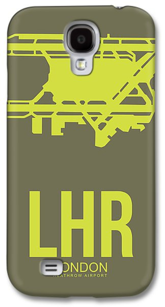 Lhr London Airport Poster 3 Galaxy S4 Case by Naxart Studio