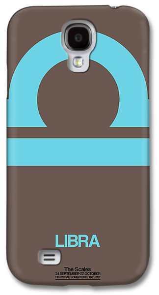 Libra Zodiac Sign Blue Galaxy S4 Case by Naxart Studio