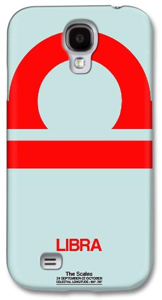 Libra Zodiac Sign Red Galaxy S4 Case