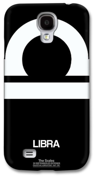Libra Zodiac Sign White Galaxy S4 Case by Naxart Studio