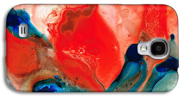 Life Force - Red Abstract By Sharon Cummings Galaxy S4 Case by Sharon Cummings